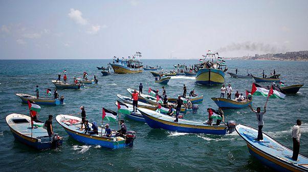 حرکت قایقهای فلسطینی برای شکست حصر غزه