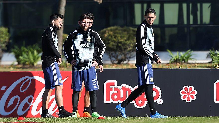 من تدريبات المنتخب الأرجنتيني