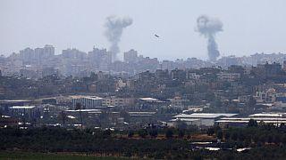 Israeli air strike in the Gaza Strip