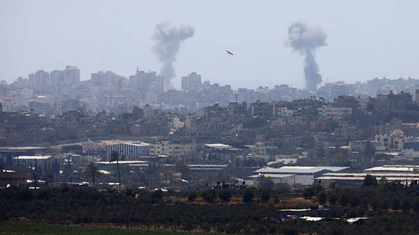 Israeli air strike in the Gaza Strip