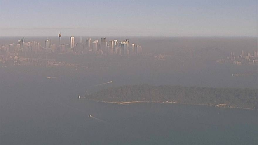 Sydney disappears in smoke