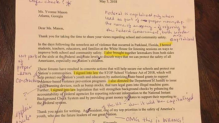 رسالة وصلت من البيت الأبيض لمعلمة لغة إنجليزية