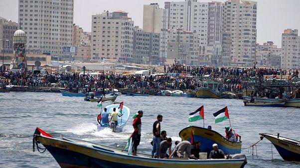 """غزة: إسرائيل تسيطر على مراكب """"الحرية"""" الفلسطينية"""