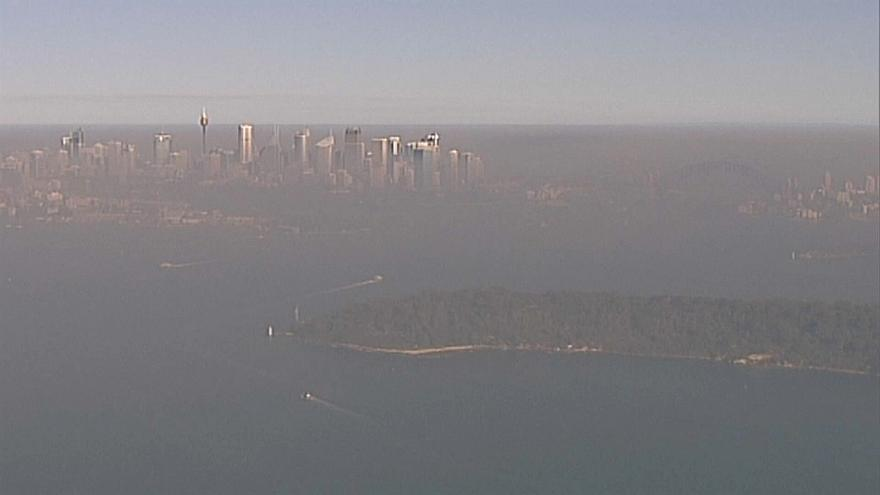 Nuvem de fumo cobre Sidney