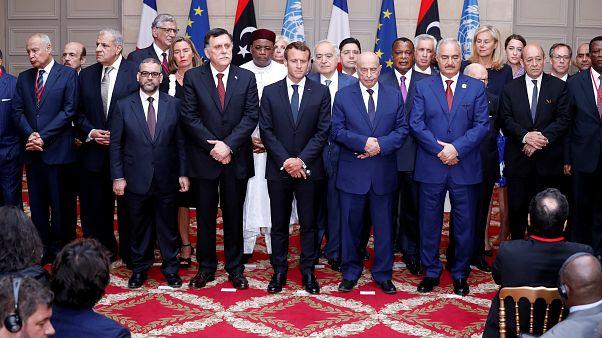 جانب من الاجتماع في فرنسا حول ليبيا