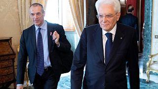 Sergio Mattarella et Carlo Cottarelli