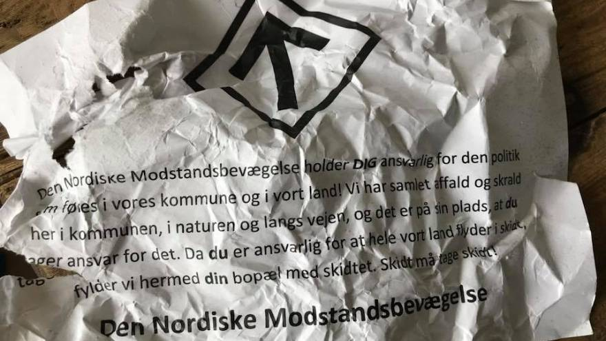 Neo-Nazis dump rubbish outside homes of Danish politicians