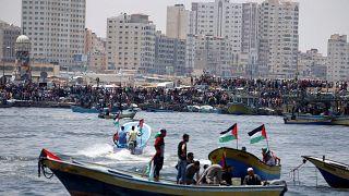 Ισραηλινό μπλόκο στον Στολίσκο Ελευθερίας της Γάζας