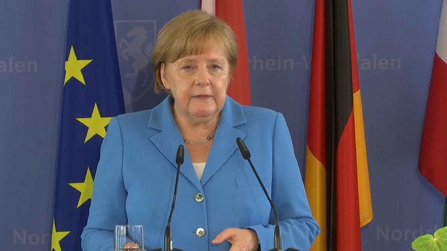 Angela Merkel speaks at the Soling memorial ceremony