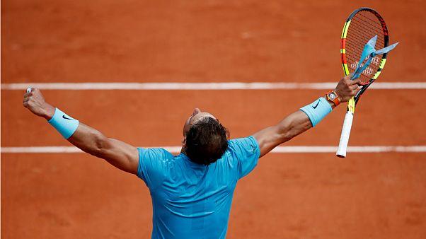 راهیابی رافائل نادال به دور دوم رقابت های تنیس فرانسه