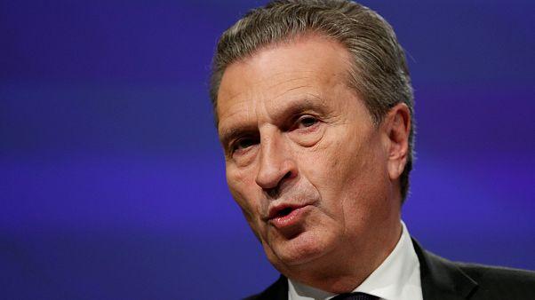 Günther Oettinger in Brüssel