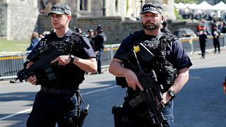 British armed police at the Royal wedding in May 2018