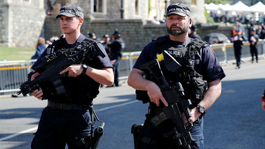 British armed police at the Royal wedding in May 2018