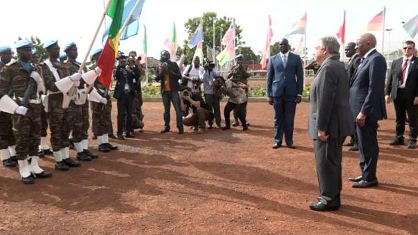 Capacetes azuis da Minusma saúdam secretário-geral das Nações Unidas