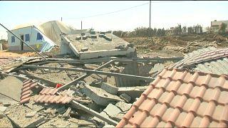 Afterath of an Israeli air strike in Gaza