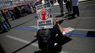 Striking Greek workers brought Athens to a halt on Wednesday