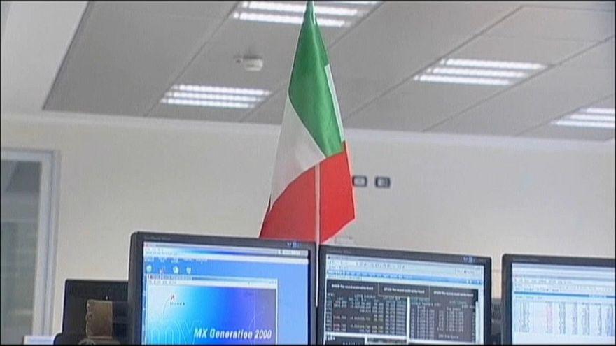 Las bolsas bailan al son de Italia