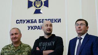 Babtschenko auf einer Pressekonferenz in Kiew 30.05.2018
