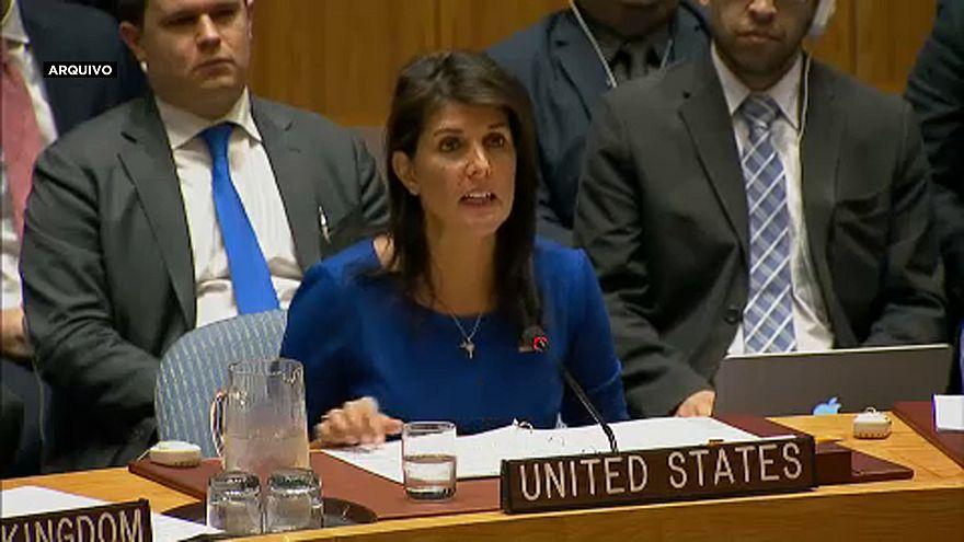 Niki Haley. embaixadora dos EUA na ONU