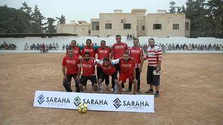أحد فرق بطولة كرة القدم الرمضانية في مصراتة بليبيا