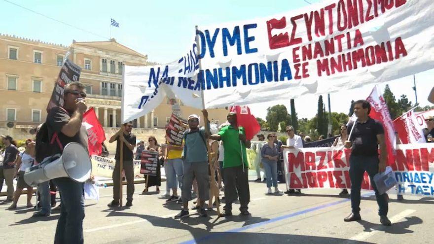 Última huelga general en Grecia antes del fin del rescate financiero
