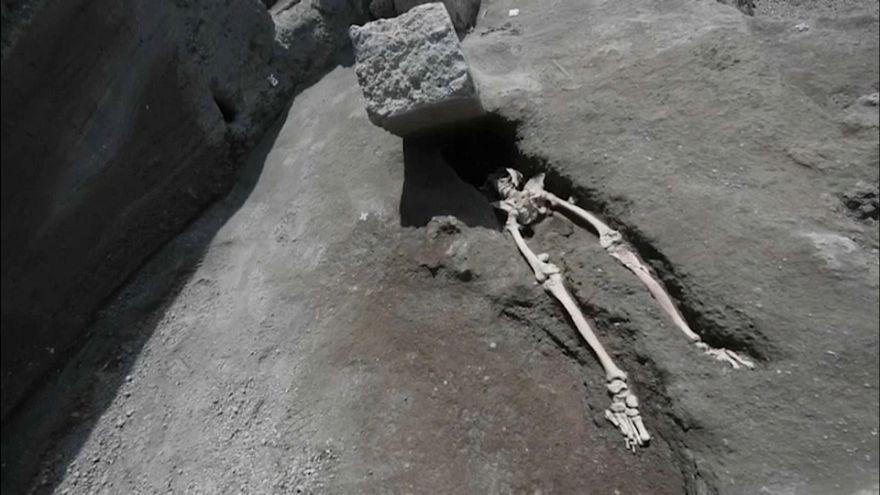 Encontrado o esqueleto de um dos últimos a fugir em Pompeia