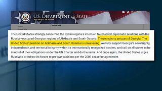 USA verurteilen Syriens Anerkennung umstrittener Gebiete