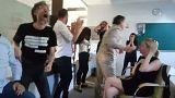Esta es la eufórica reacción de los compañeros de Babchenko al descubrir que estaba vivo