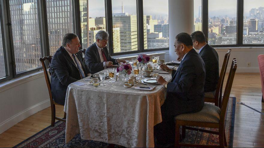 ملاقات مایک پمپئو و مقام ارشد کره شمالی