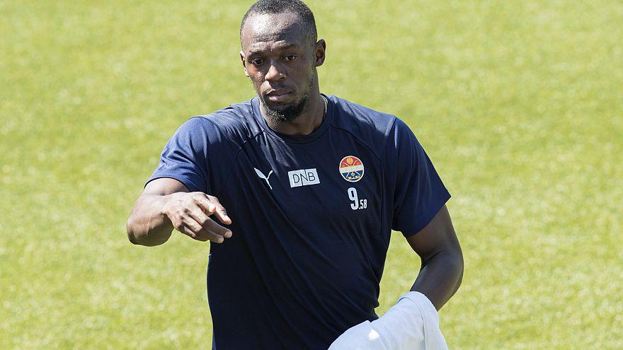 Usain Bolt follows his footballing dream in Norway