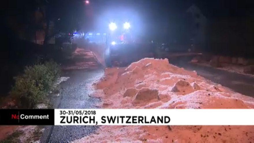 Nyáreleji hó Svájcban
