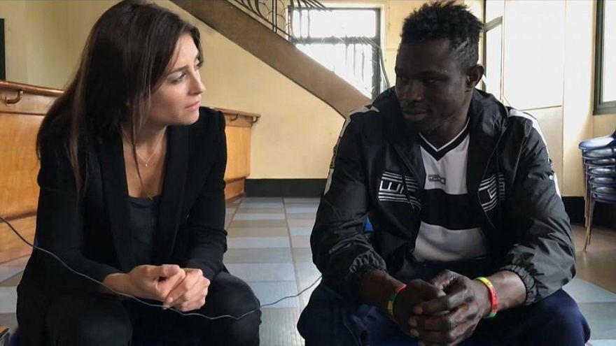 Anelise Borge mit Mamoudou Gassama