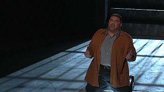 Baritone Dimitri Platanias plays the lead role in Verdi's 'Nabucco'