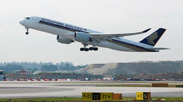 A Singapore Airlines Airbus A350-900 repülőgépe