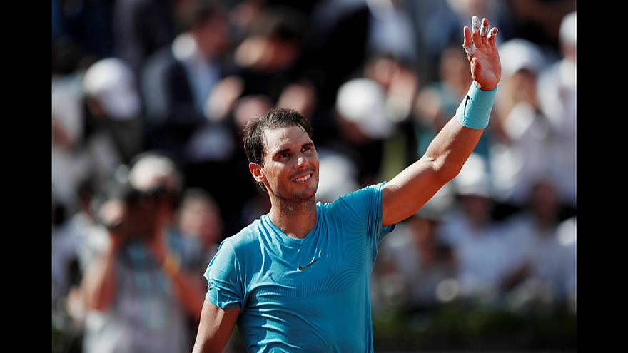 Rafael Nadal after winning his second round match