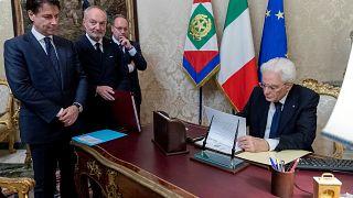 taly's PM-designate Giuseppe Conte and President Mattarella