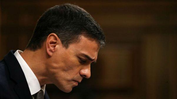 سانشيز في البرلمان الاسباني في مدريد يوم الخميس