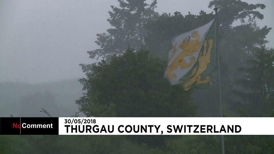 İsviçre kötü hava koşullarına teslim oldu