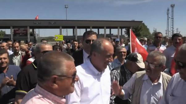 Erdogan-Herausforderer Muharrem Ince auf Wahlkampftour in Griechenland