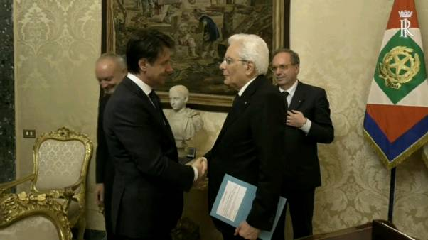 Giuseppe Conte and Sergio Mattarella