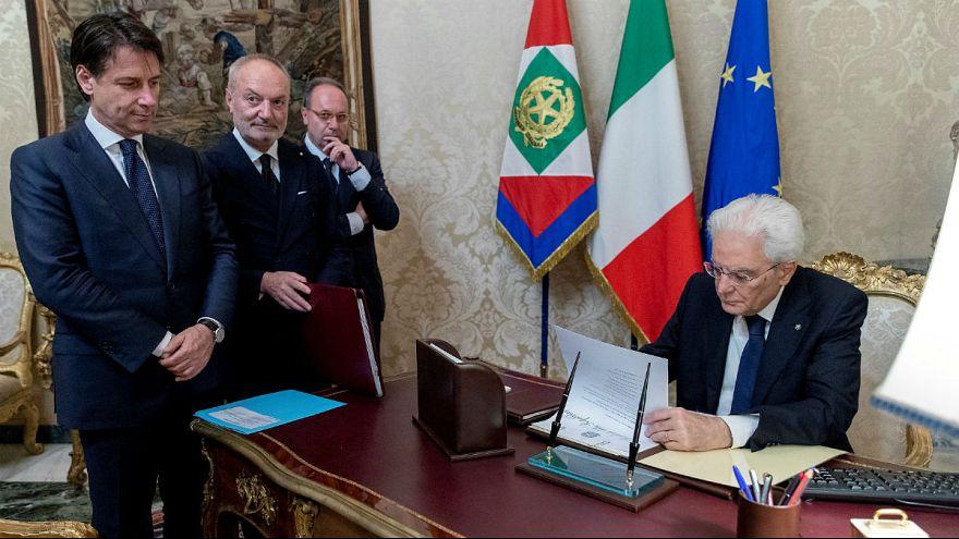Italy's Prime Minister-designate Conte-Italian  President Mattarella