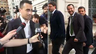 Liga e Movimento 5 Estrelas no governo de Itália