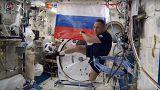 """Ρώσοι κοσμοναύτες """"τέσταραν""""' την μπάλα του πρώτου παιγνιδιού του Μουντιάλ στο Διάστημα"""