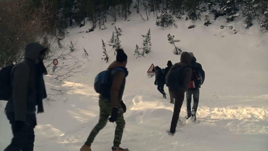 Les migrants face à l'obstacle des Alpes