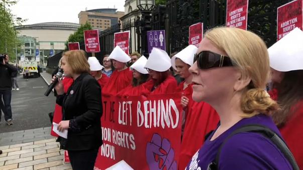 Northern Ireland abortion pill protest
