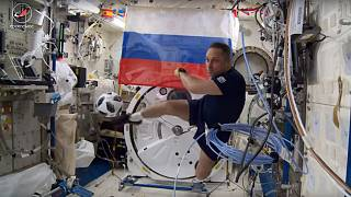Watch: Cosmonauts show off football skills ahead of World Cup