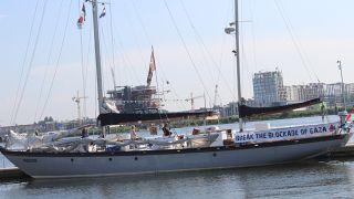 سفينة الحرية لكسر حصار غزة ترسو في أمستردام