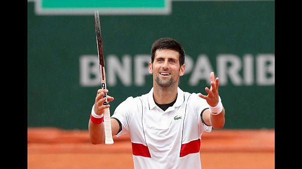 Djokovic nos oitavos de final de Roland Garros