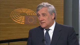 Ο πρόεδρος του Ευρωπαϊκού Κοινοβουλίου, Αντόνιο Ταγιάνι.