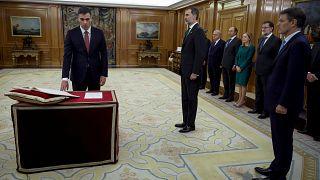 Amtseid: Pedro Sanchez ist Spaniens dritter sozialistischer Regierungschef